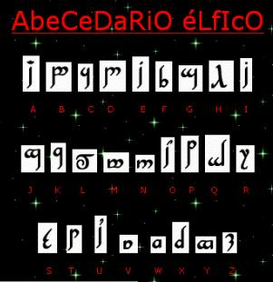 abecedario elfico quenya