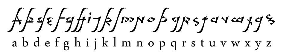 abecedario elfico para tatuajes
