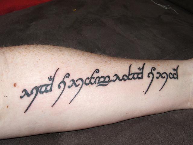 abecedario elfico mi nombre