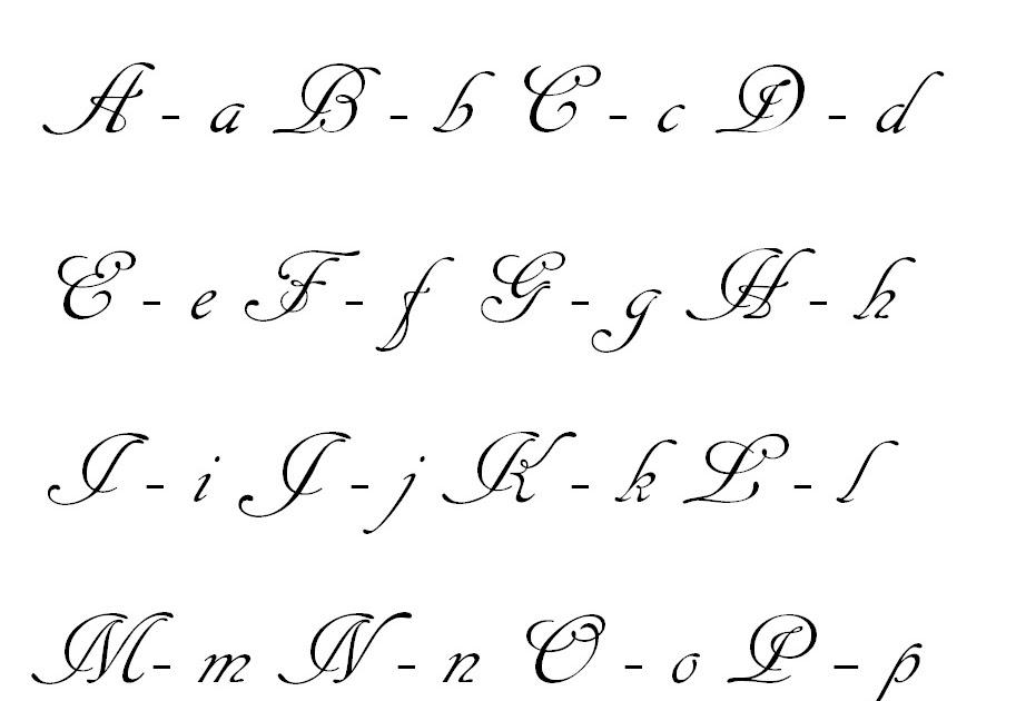 abecedario cursiva elegante