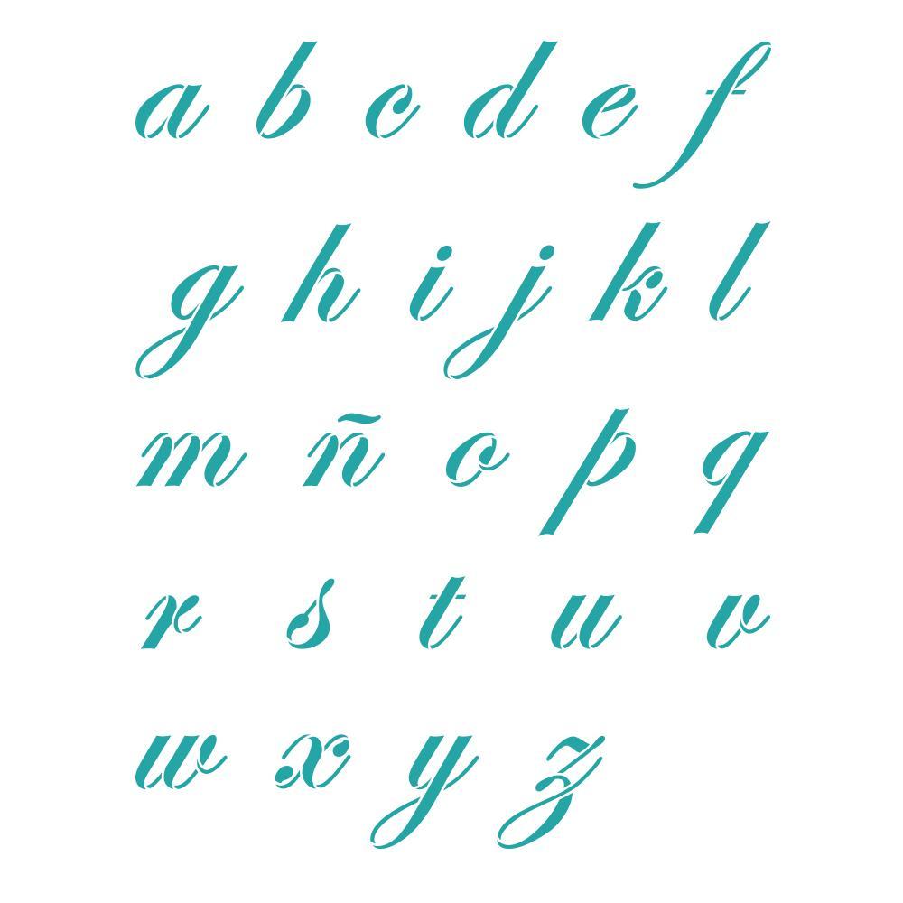 abecedario cursiva mayuscula y minuscula