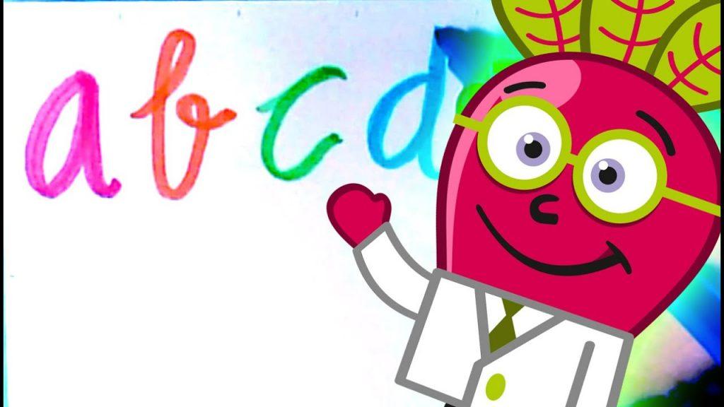 Abecedario cursiva para niños