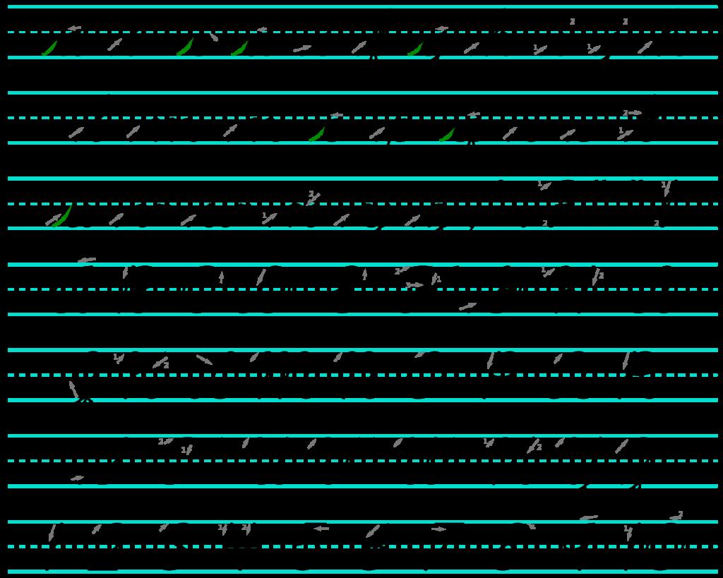 abecedario cursiva para copiar y pegar