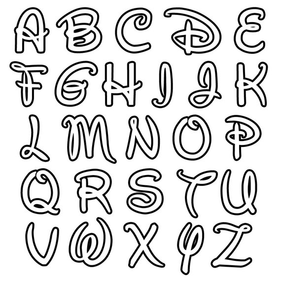abecedario en disney para colorear