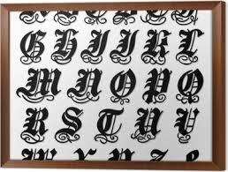 abecedario gotico mayusculas