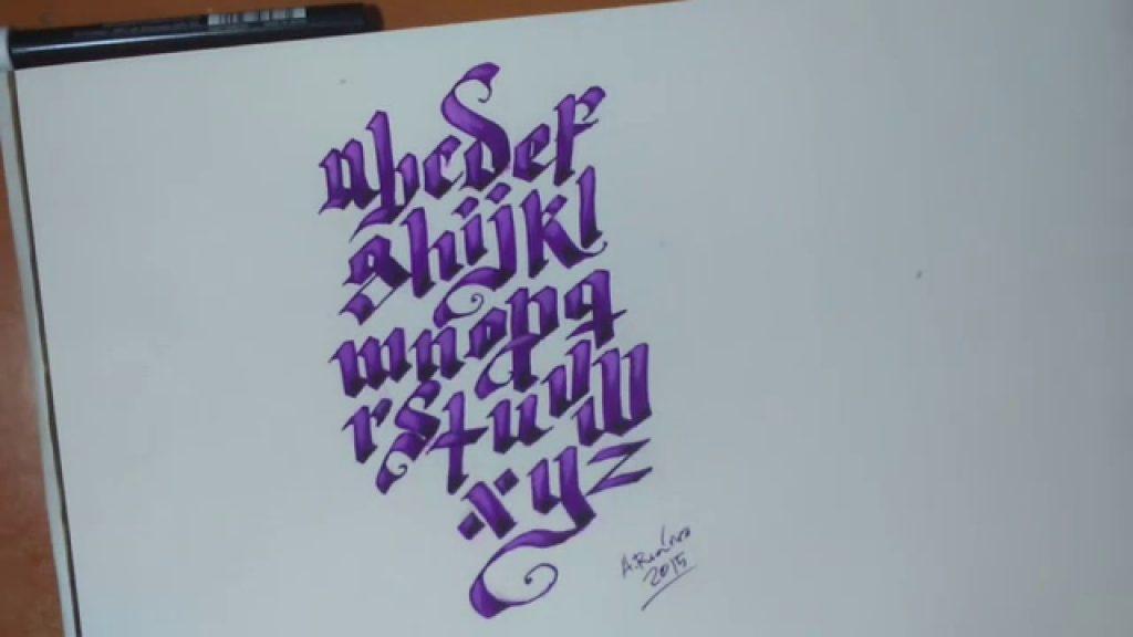 abecedario gótico español