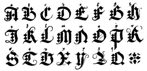 abecedario gótico gratis