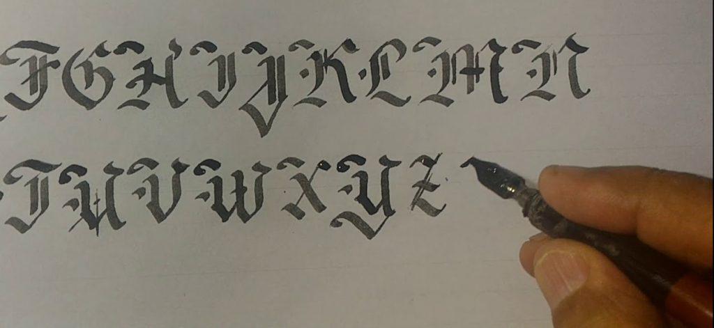 abecedario gotico letra por letra