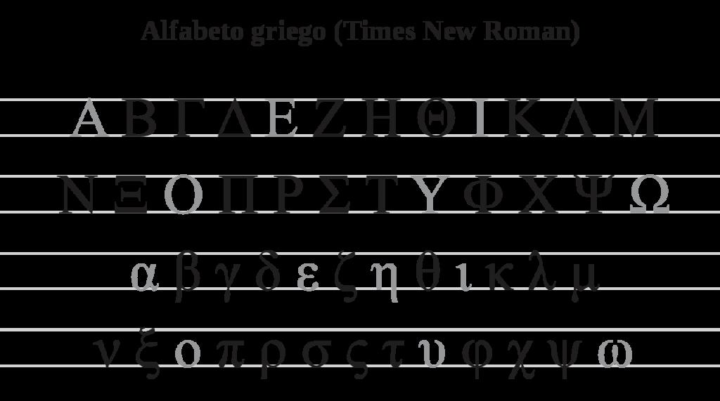 abecedario griego times