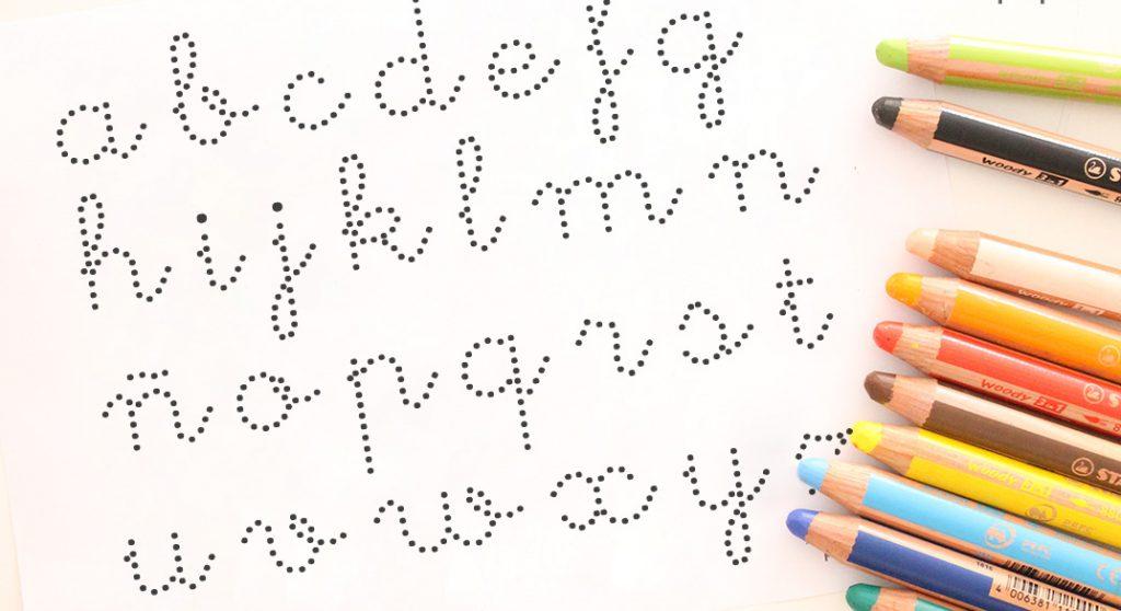 dibuja el abecedario infantil