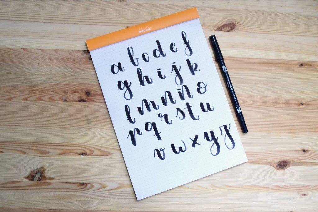 abecedario lettering escritura