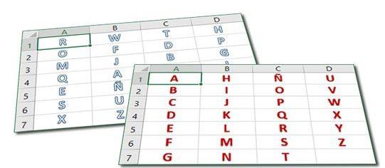 abecedario completo numerado