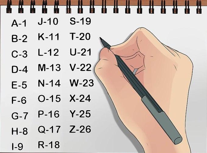 abecedario numerado 27