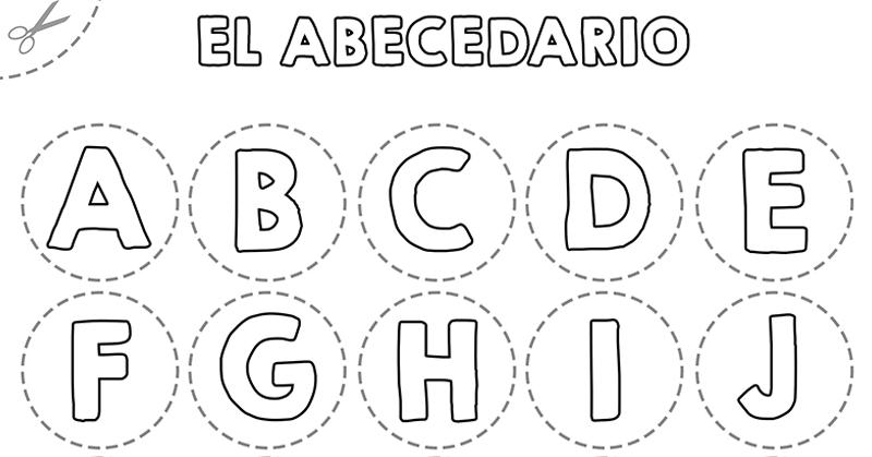 abecedario para colorear de niños grandes