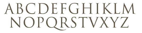 abecedario romano imagenes