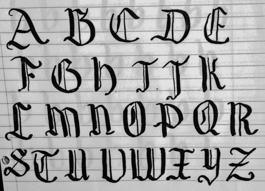 abecedario romano moderno