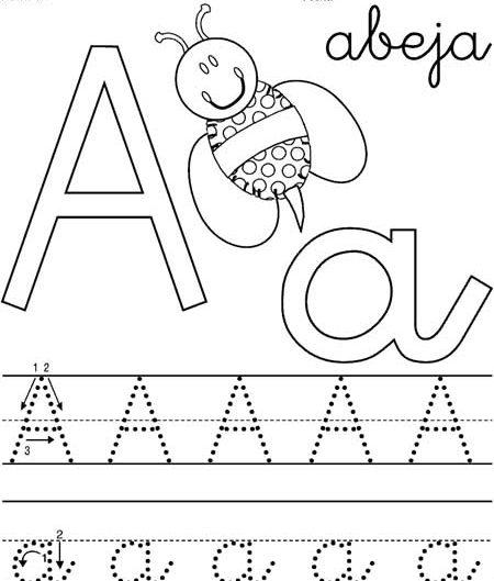 letras del abecedario infantil