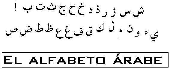 abecedario arabe actual