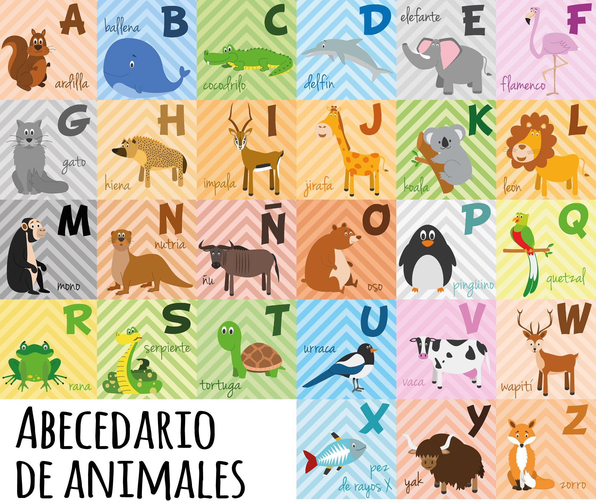 abecedario animales español