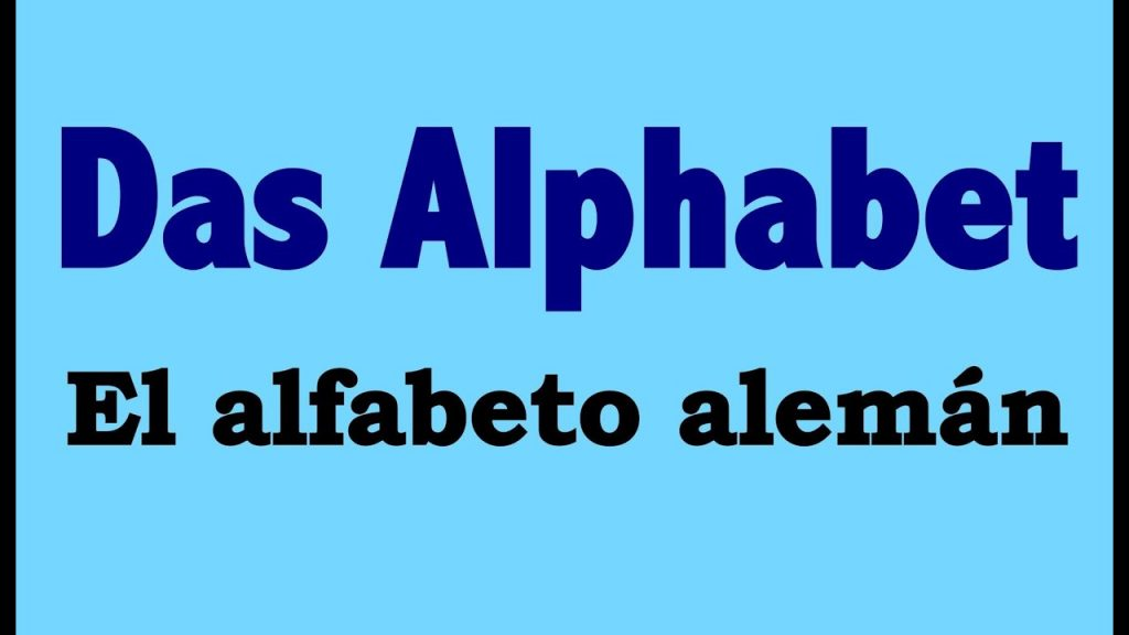 alfabeto aleman completo