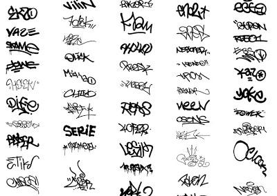 abecedario con graffiti